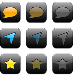 Square modern app icons vector image vector image