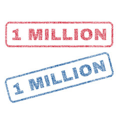 1 million textile stamps vector