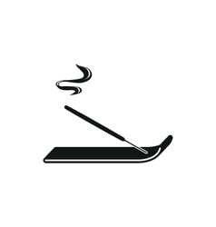Incense sticks simple black icon on white vector