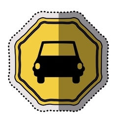 Isolated yellow road sign design vector