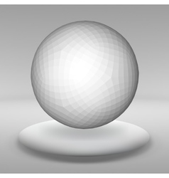 Hanging ball made of lots of smaller polygons in vector