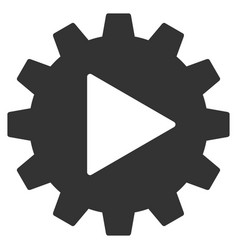 automation gear flat icon vector image