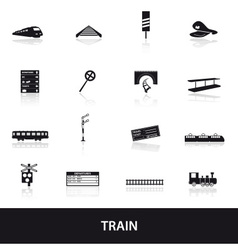 Train and railway icons eps10 vector