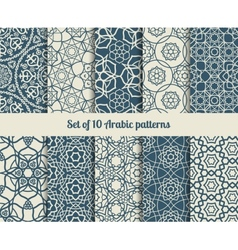 Arabic patterns vector