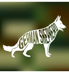 Creative design of german shepherd breed inside vector