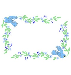 Frame with dove vector