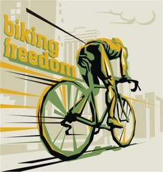 Biking cycling vector