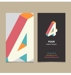 Business card number 4 vector