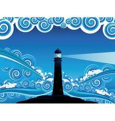 Lighthouse in the sea5 vector