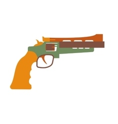 Revolver icon cartoon vector