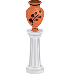 Vase on column vector