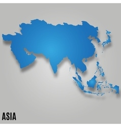 Asia map card vector image vector image
