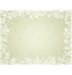 beige background with snowflakes vector image