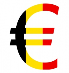 Belgian euro vector image