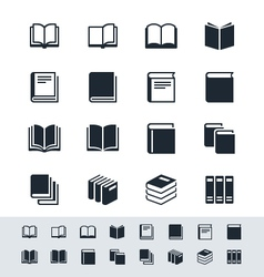 Book icon set simplicity theme vector image vector image