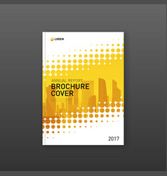 brochure cover design template for real estate vector image