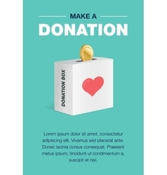 Charity and donation poster set flat design for vector