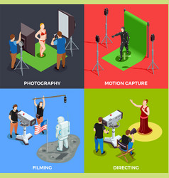 cinematograph 2x2 design concept vector image vector image