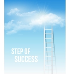 Cloud stair the way to success in blue sky vector image vector image