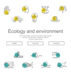 Ecology and Environment Business template website vector image