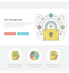 Flat line business concept web site header vector