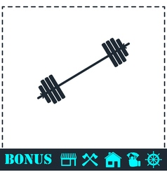 Free flex gear crossbar icon flat vector image vector image