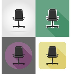 furniture flat icons 30 vector image