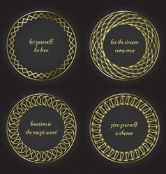 Golden frames 5 400 vector