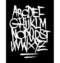Hand style graffiti font alphabet vector image vector image