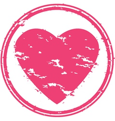 Heart grunge rubber stamp vector image vector image