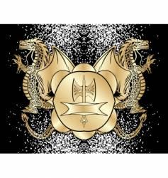 heraldic blazon vector image vector image