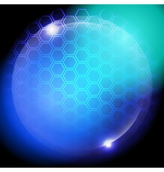 Hexagon abstract glowing background vector