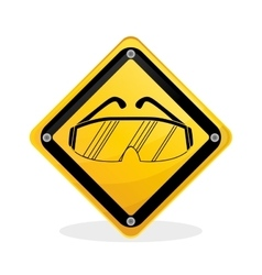Industrial security design road sign and alert vector image vector image