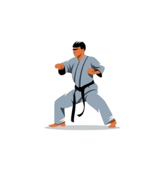 Karate sign vector image vector image