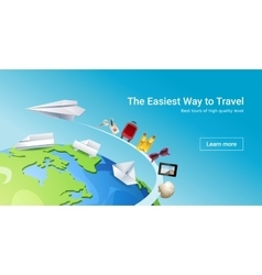 Loading page web site to provide tourist services vector