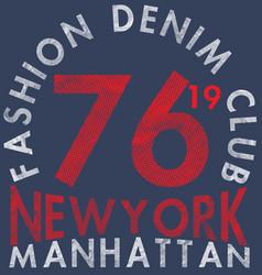New york city bronx grunge background typography vector
