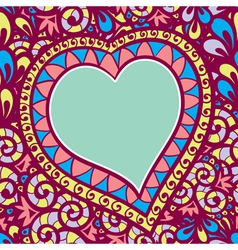 pattern with heart vector image vector image