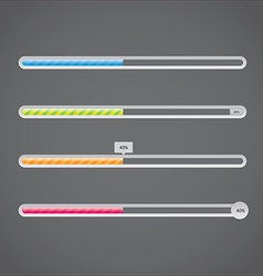progress bar vector image