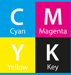 Simple cmyk color sample with color name vector