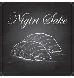 Sushi color nigiri sake vector