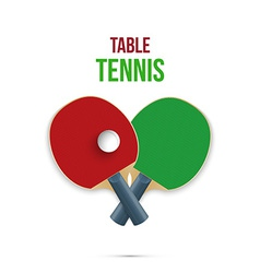 Two rackets for playing table tennis vector image