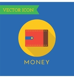 Wallet icons set shop money or commerce vector