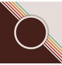 Retro background with label design vector