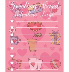Valentine day card style vector