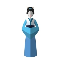 Isolated woman of china design vector