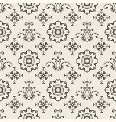 Floral seamless wallpaper pattern vector