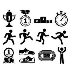 running sport outdoor jogging people marathon vector image