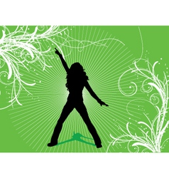 female dancer vector image