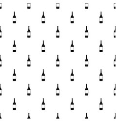 Wine bottle pattern vector