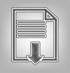 File download sign  pencil sketch vector